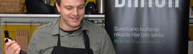 Chef Mate Janković kuha i stvara svoje delicije isključivo uz dobru glazbu