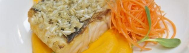 Sočni brancin s pireom i salatom od mrkve