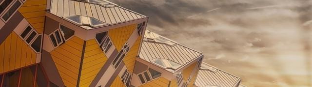 Kubne kuće u Rotterdamu zamenitost su moderne arhitekture Nizozemske