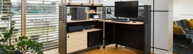 Pogledajte mobilni ured koji savršeno odgovora funkcionalnosti i udobnosti rada od kuće