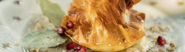 Tortica s briom, jabukama i orasima