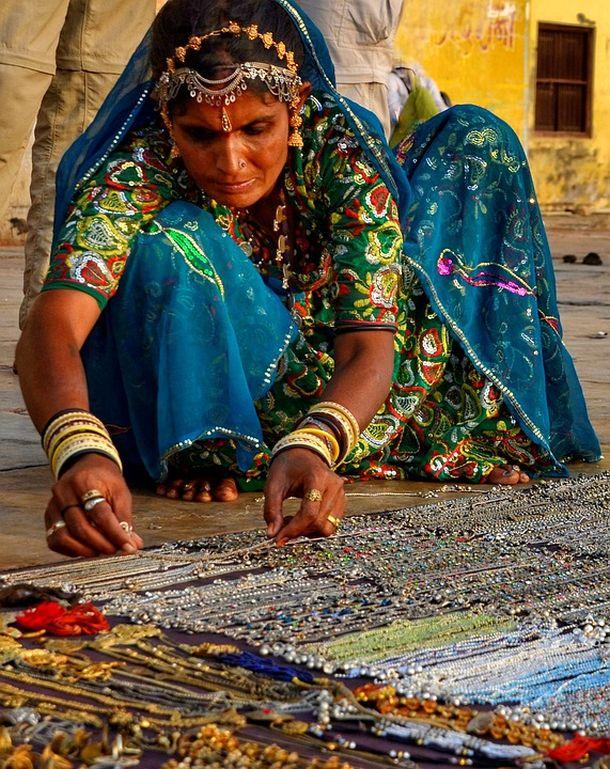 indija žena nakit tržnica bazar
