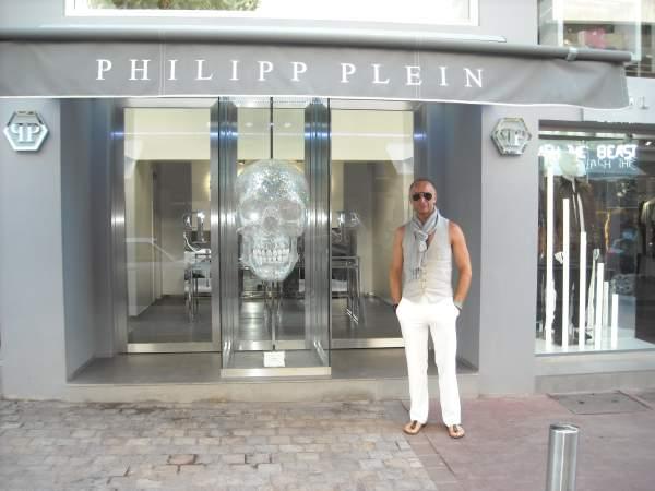Jedan od luksuznih dućana u Cannesu ispred kojih imam sliku