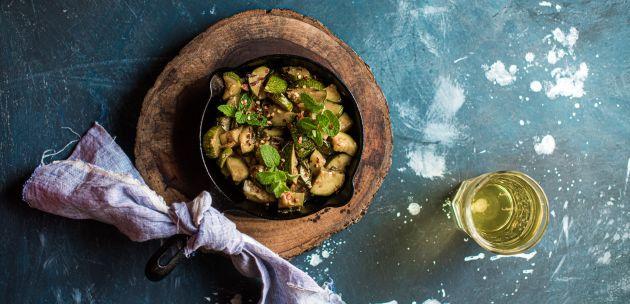 salata s tikvicama i mentom tikvice