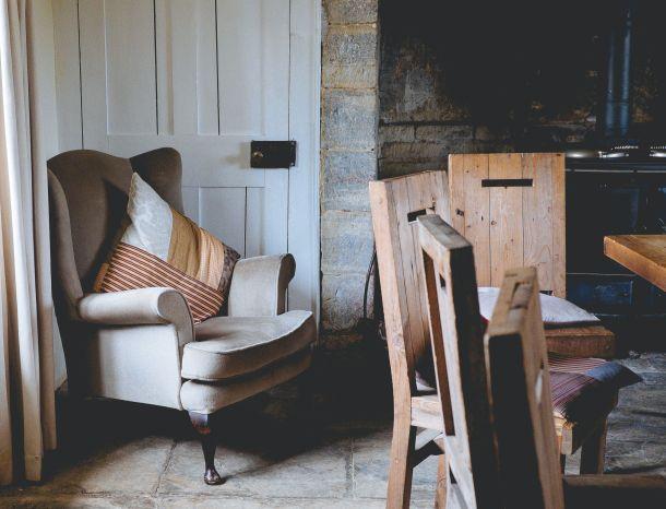drvene kuće ideje fotelja interijer