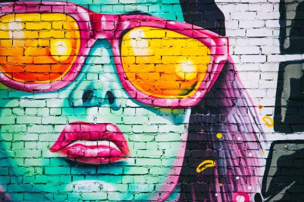 ukrašavanje zidova interijer grafiti