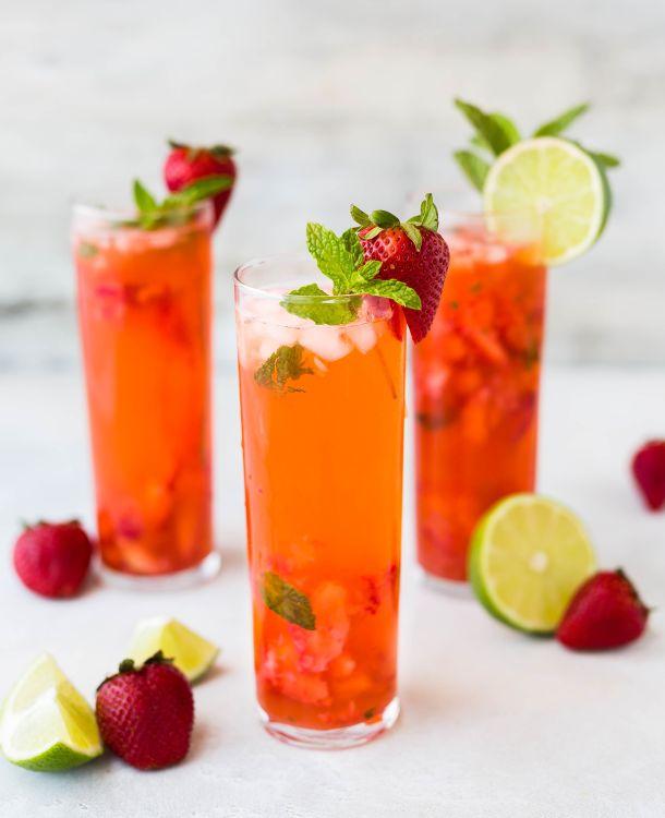 piće koktel zdravi napitak jagoda