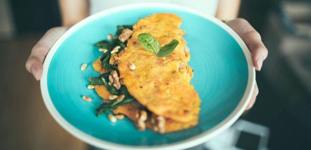 omlet od mladog luka i tune
