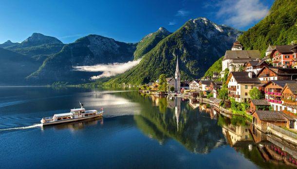 hallstatt jezero austrija