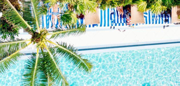 bazen plaža more sunce sunčanje