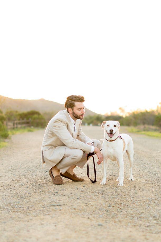 šetnja muškarac pas