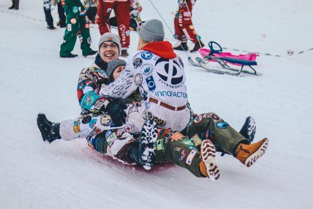 skijanje obitelj