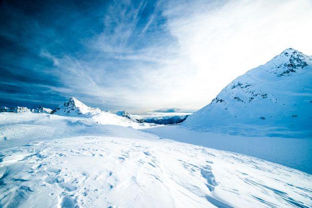 snijeg zima planine  skijanje