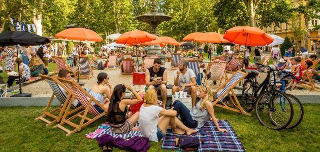 Park Zrinjevac i ove godine postaje najpopularnija zagrebačka plaža