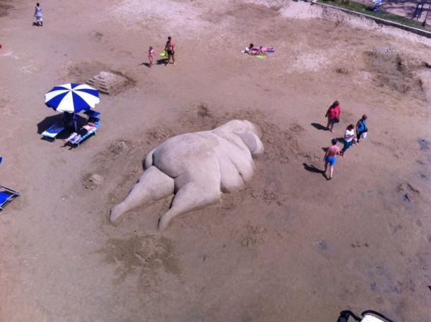 skulptura u pijesku