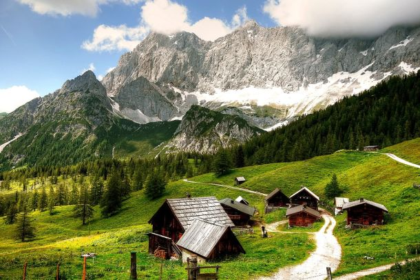 Österreich planine selo