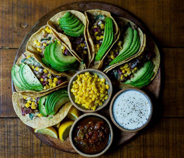 vege vegani tortilja avokado kukuruz hrana