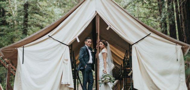 vjenčanje neobično vjenčanje medeni mjesec par glamping