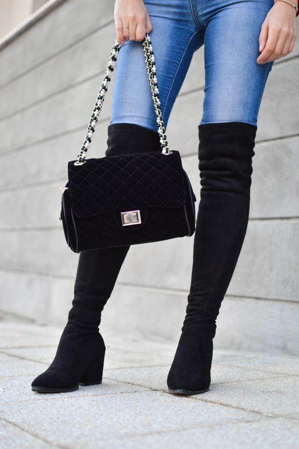 čizme preko koljena traperice moda fashion