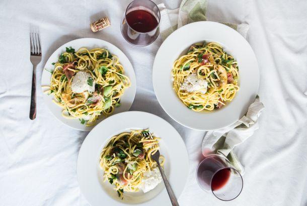 špageti vino hrana