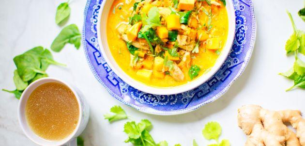 piletina ginger hrana juha