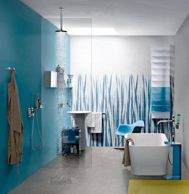 interijer plavo kupaona