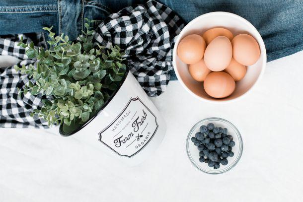 jaja hrana doručak borovnice