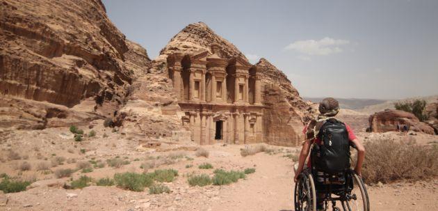 Prva osoba u invalidskim kolicima osvojila vrh hrama u Jordanu:Slaven Škrobot