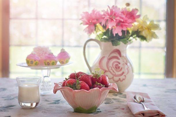 Jagode stol cvijeće