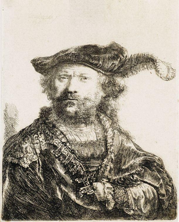 Rembrandt, Autoportret, 1638