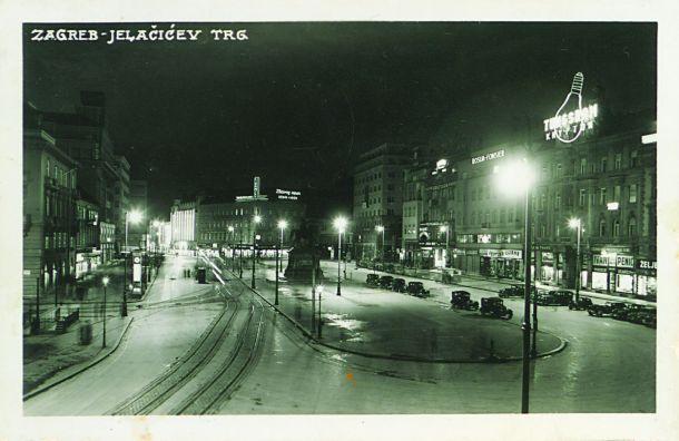 razglednica, Zagreb Jelačićev trg, 1928-1940