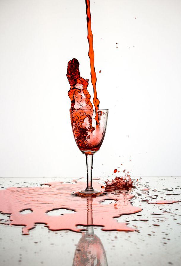vino čaša