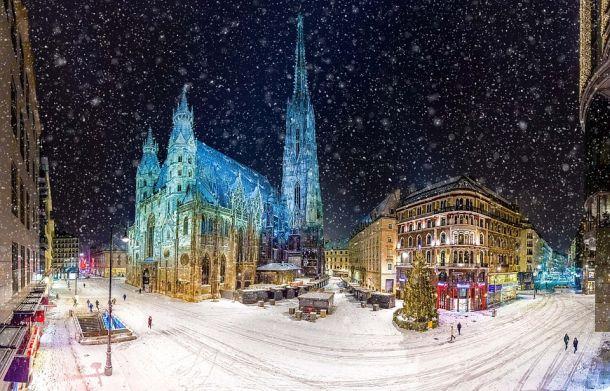 beč dom crkva snijeg