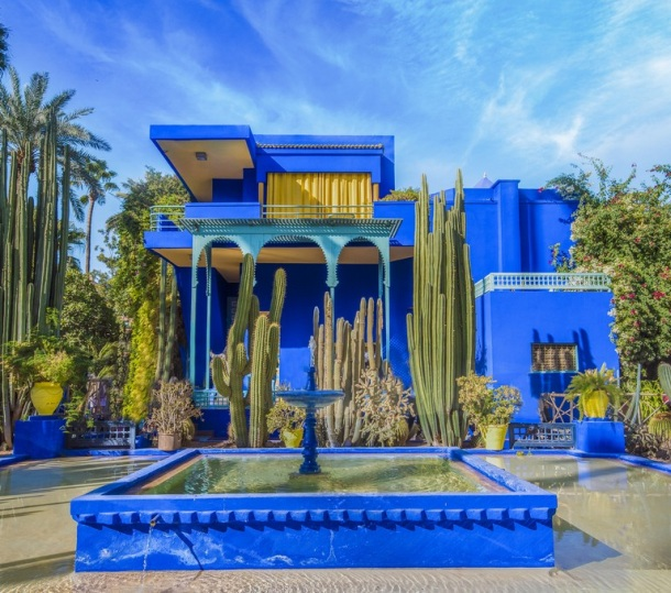 kuca Yves Saint Laurant Blue House Yellow maroko