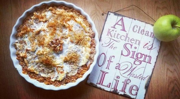 Pita od jabuka i oraha bez brašna i šećera: Apple-Walnut Pie