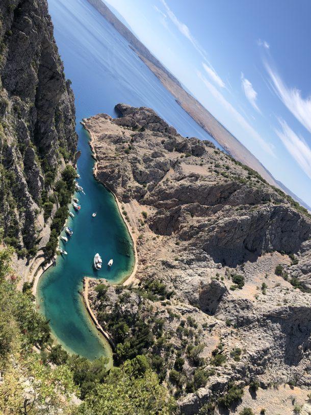 uvala fjord zavratnica jadran hrvatska