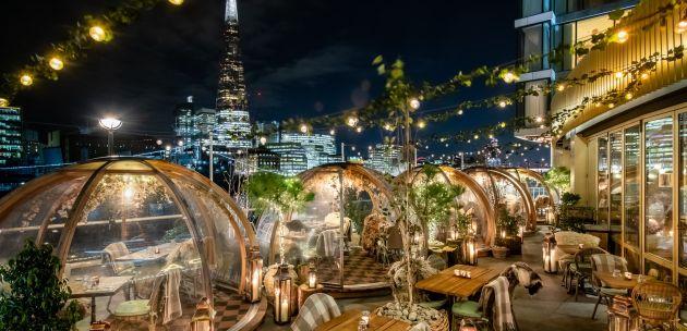 Coopa Club igluu na zimskoj terasi restorana london