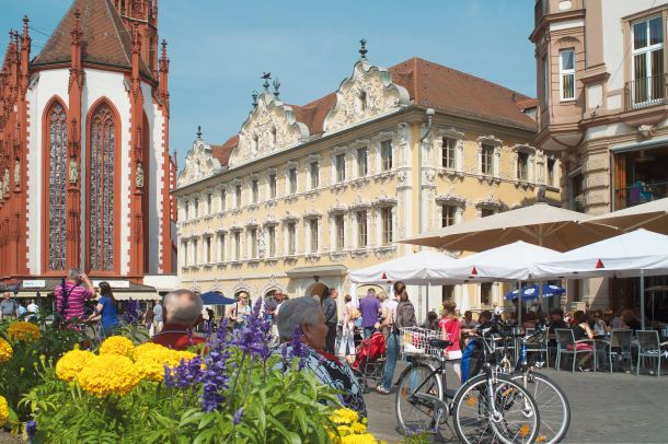 Würzburg trznica Falkenhaus and Marienkapelle