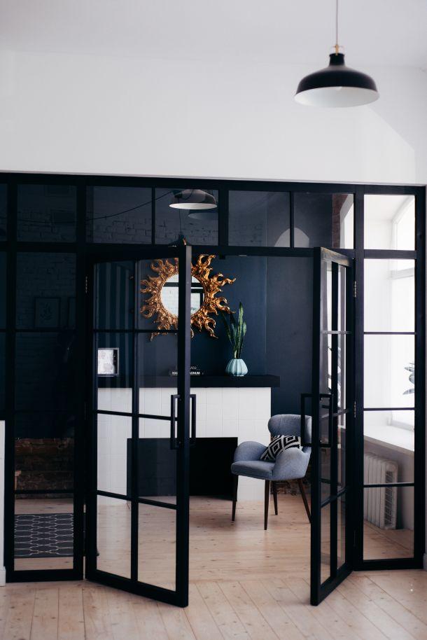 izbor zidnih boja crna boja u interijeru