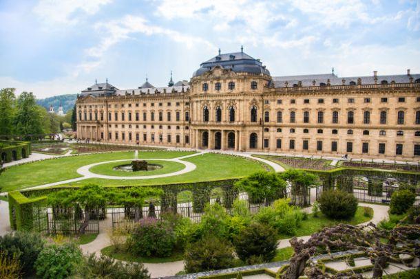 wurzburg rezidencija palaca princeva i vrt