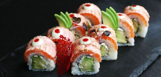 recept za sushi zimska Himura losos rolica