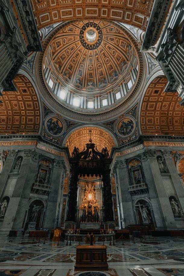 bazilika svetog petra oltar vatikan