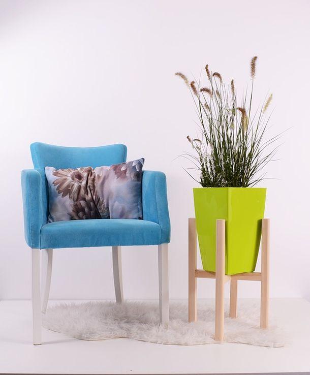 fotelje cvijece vaza ideje interijer