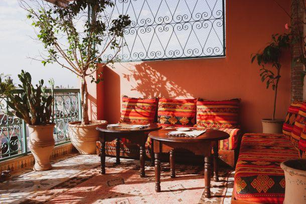 egzotični balkon terasa