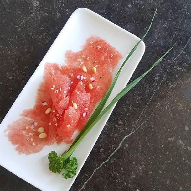 Carpaccio s lubenicom i lososom