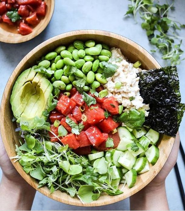 Poke bowl recept  s lubenicom