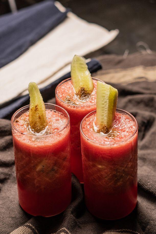 Veganski koktel lubenica i krastavac