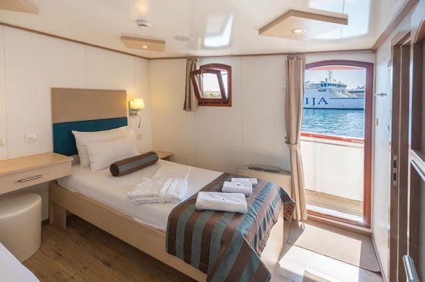 vanjska kabina broda paradise krstarenje jadranom 2021
