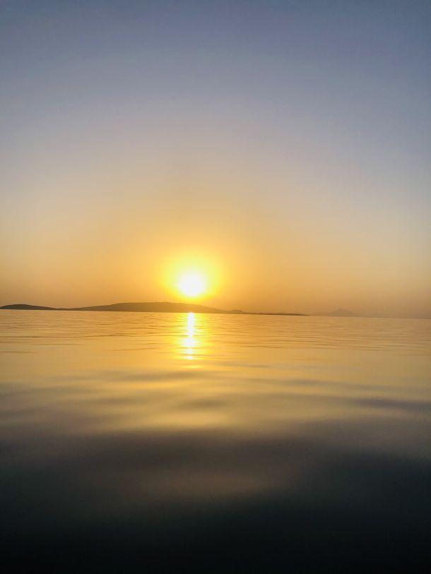 zalazak sunca otok ilovik jadran