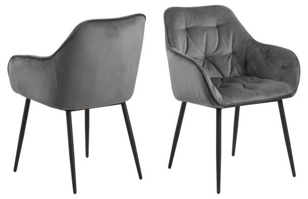 vivre Set 2 stolice za blagovaonicu Brooke Grey